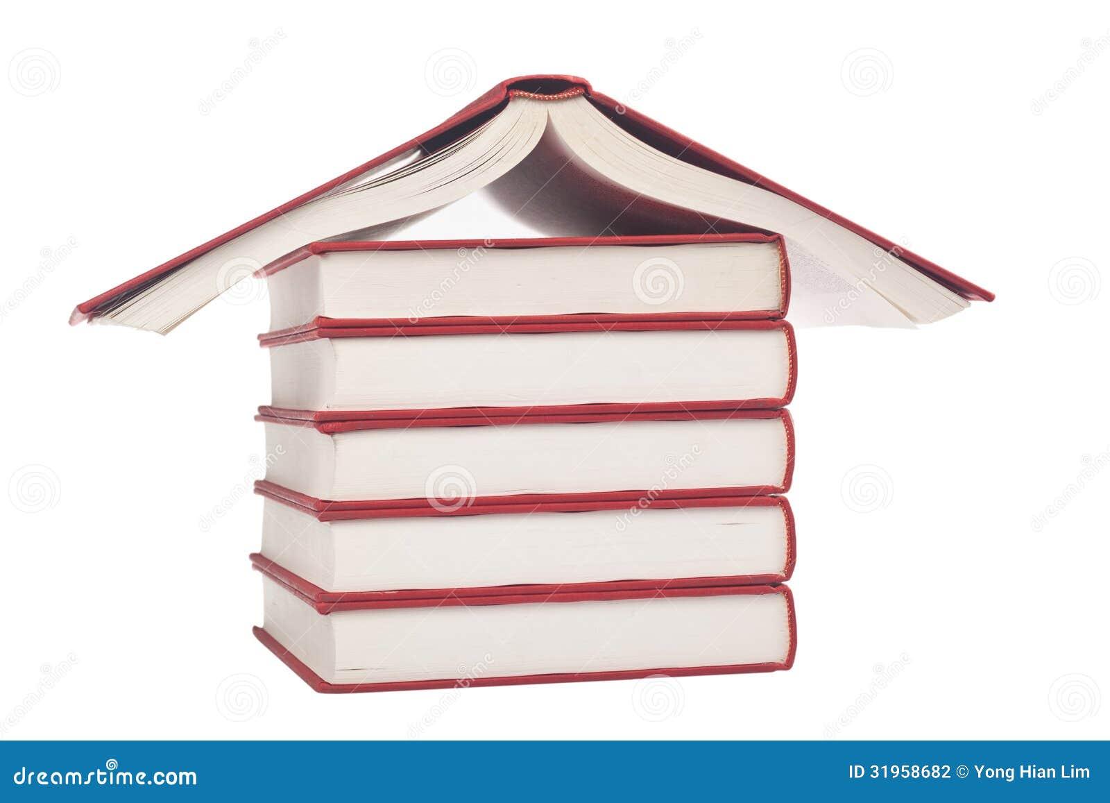 Books shaped like a house stock photography image 31958682 for Business cards shaped like a house