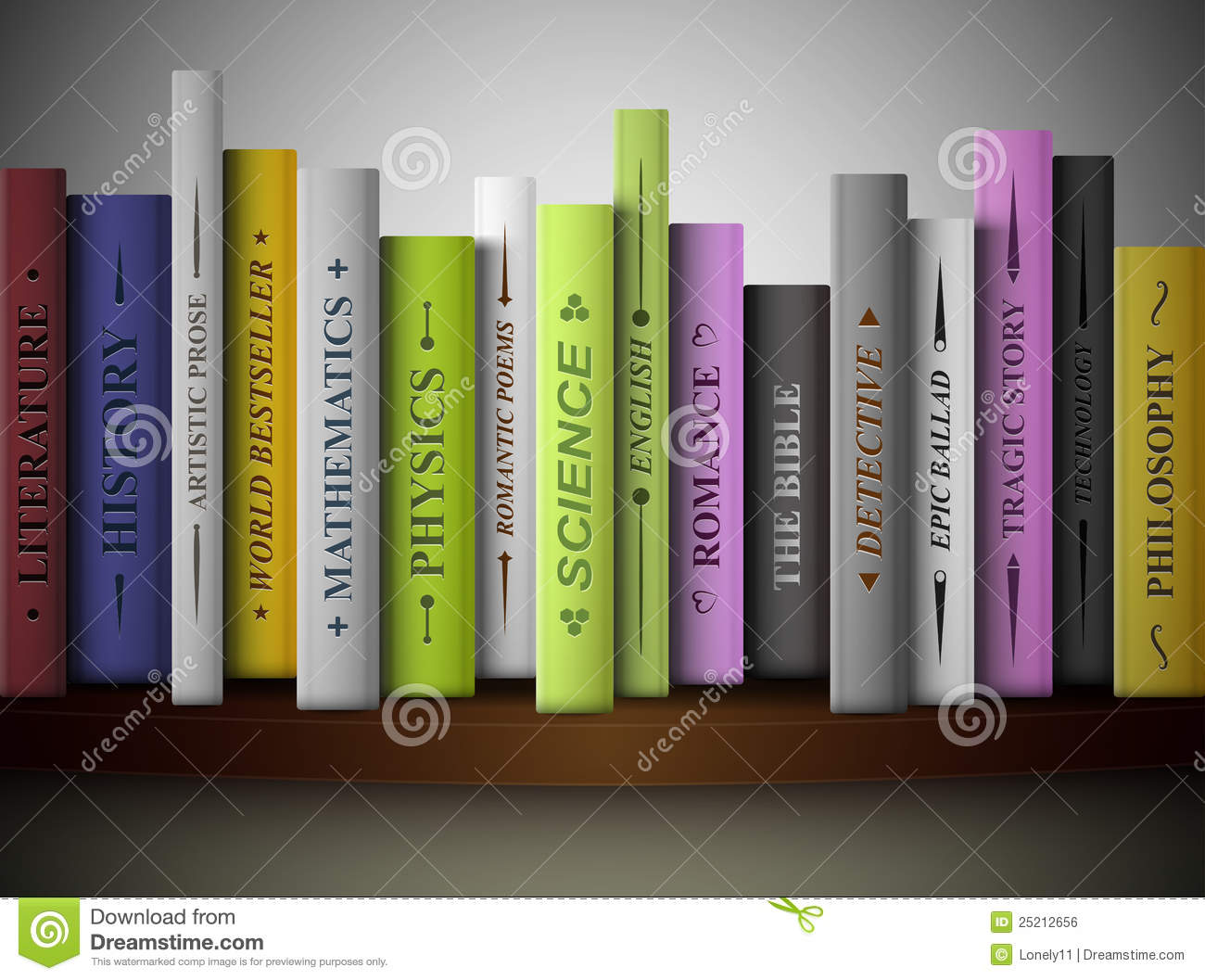 Books On Shelf Royalty Free Stock Image - Image: 25212656