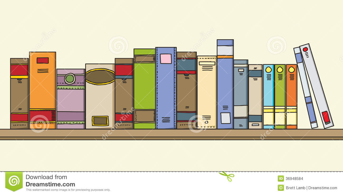 Books On Shelf Stock Illustration Illustration Of Bookshelf 36948584