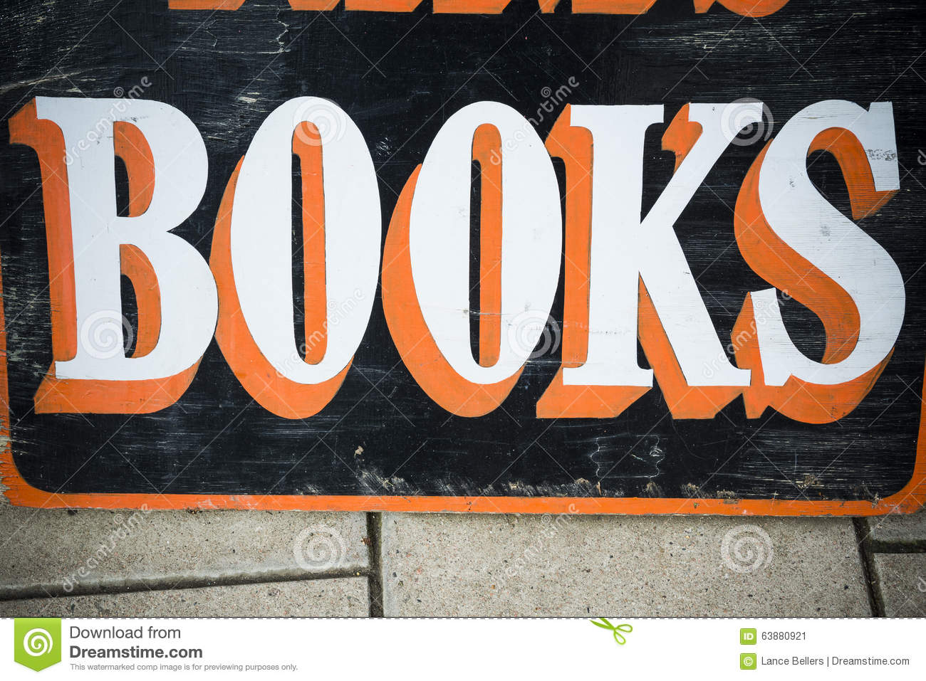 sign books bookstore outside handprinted secondhand bold england