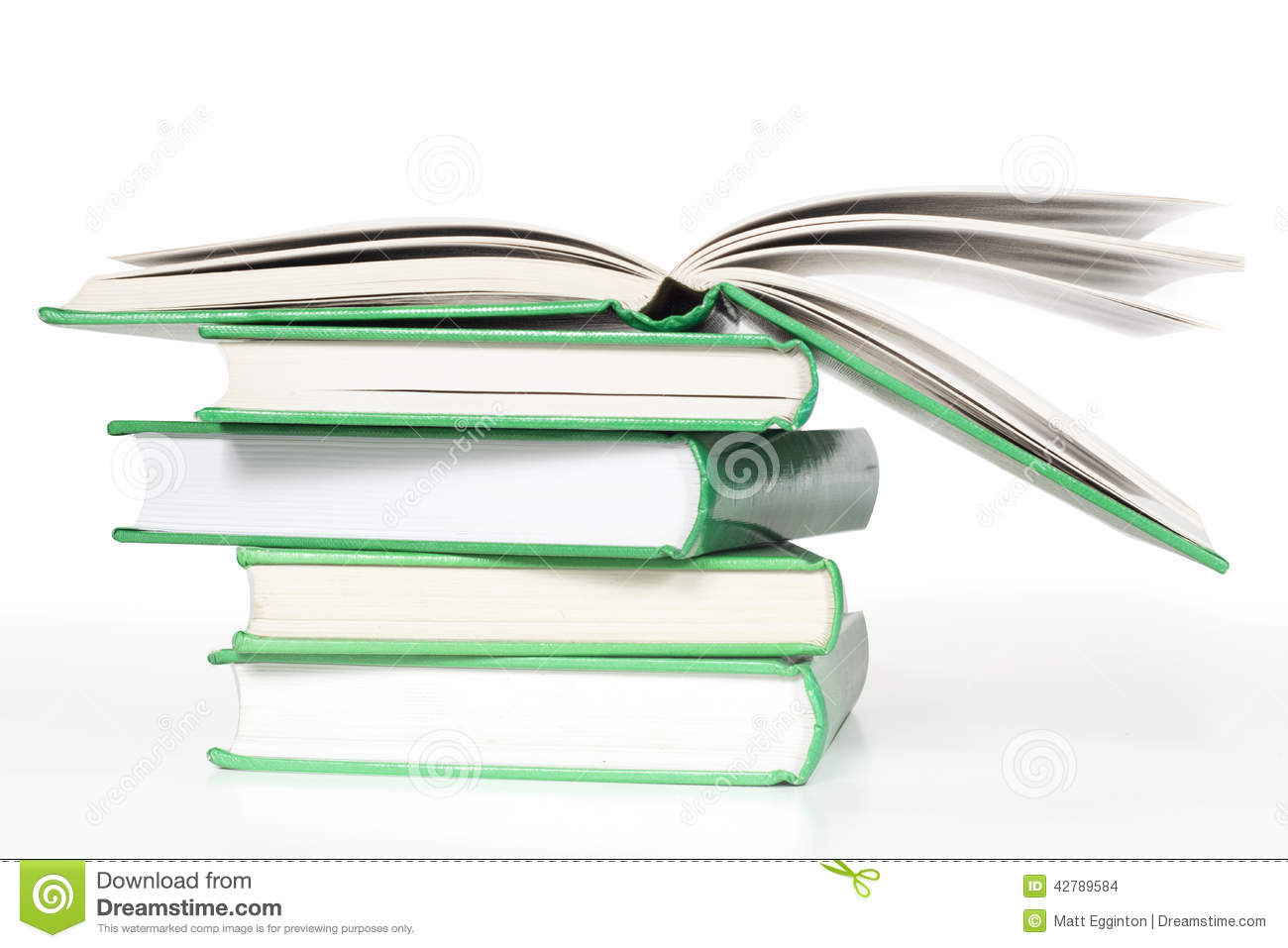 Books Stack with open book