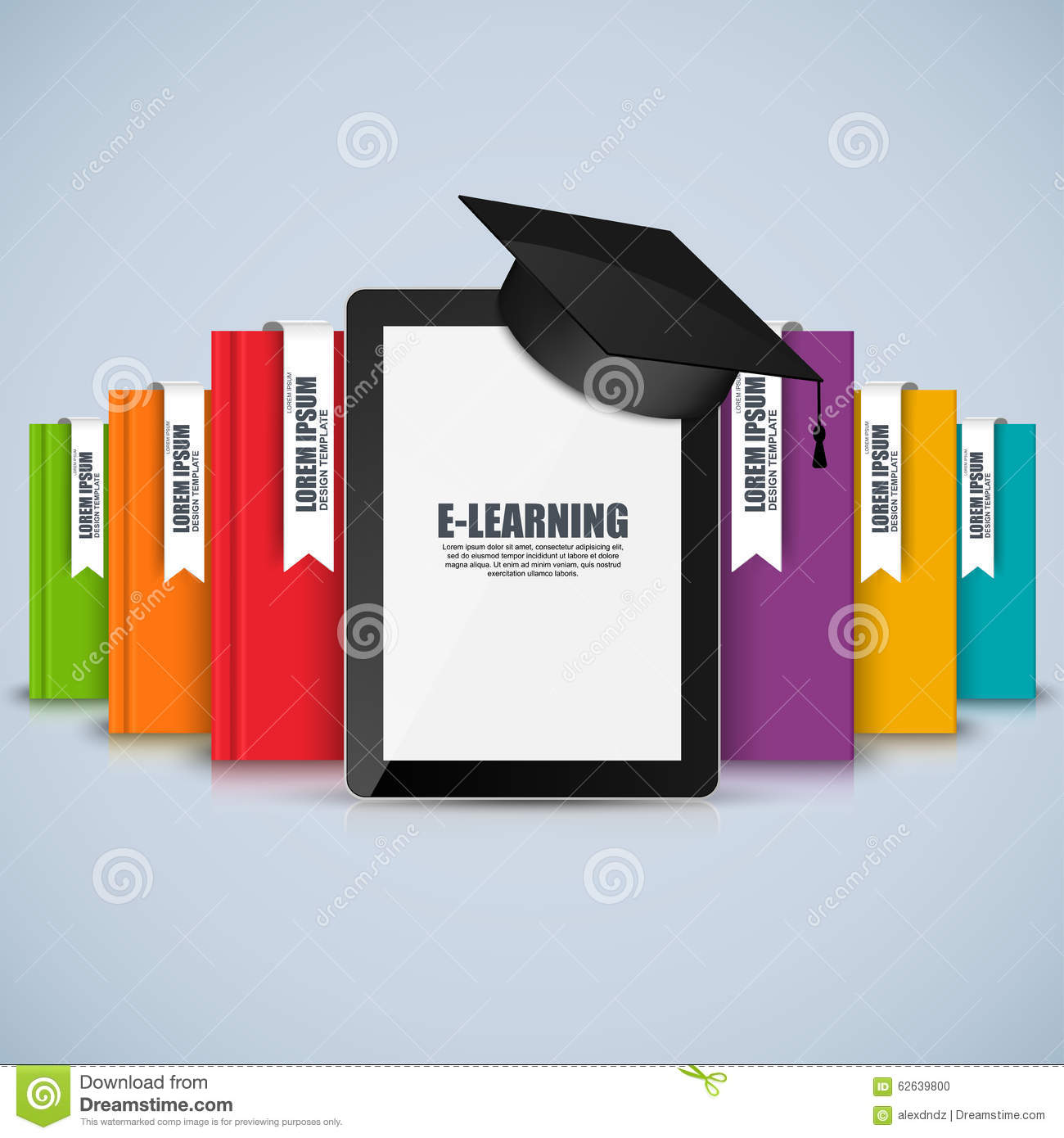 E learning poster designs - Books Step Education Infographic Vector Design Template