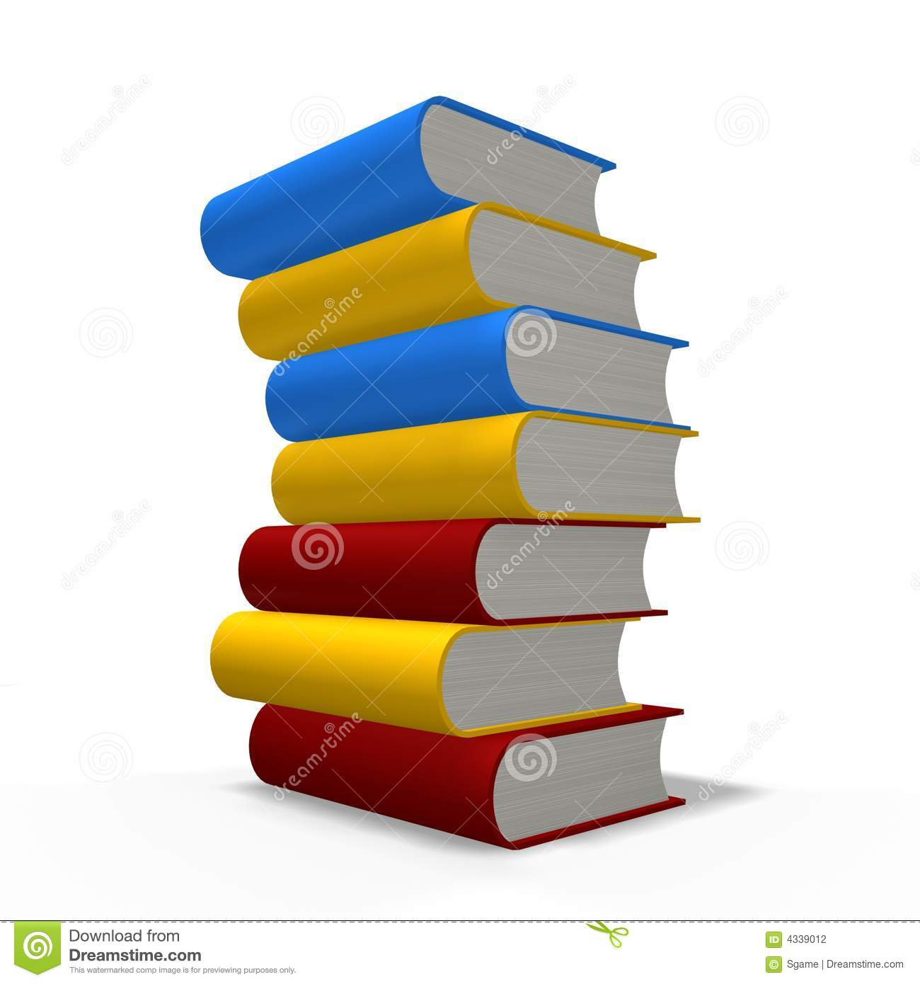 books tower stock photography   image 4339012