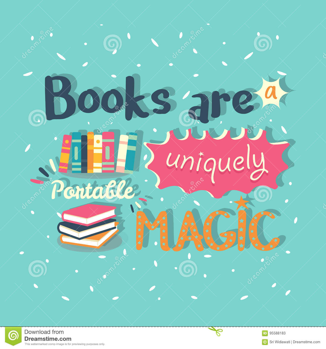 Books Are A Uniquely Portable Magic Quote Motivation Poster