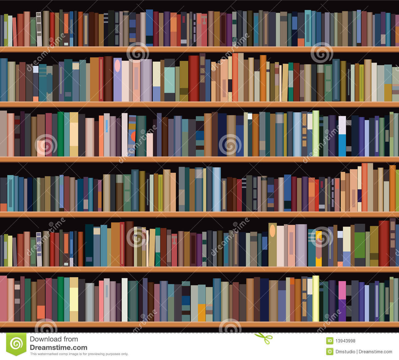 Superb img of Bookshelf Royalty Free Stock Photos Image: 13943998 with #9F5E2C color and 1300x1171 pixels
