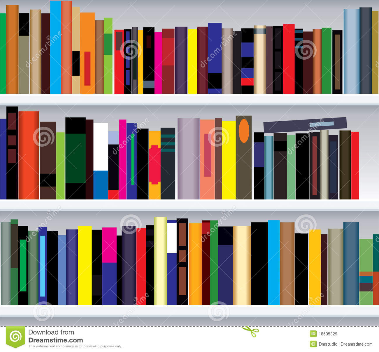 Bookshelf with books Royalty Free Stock Photo Bookshelf