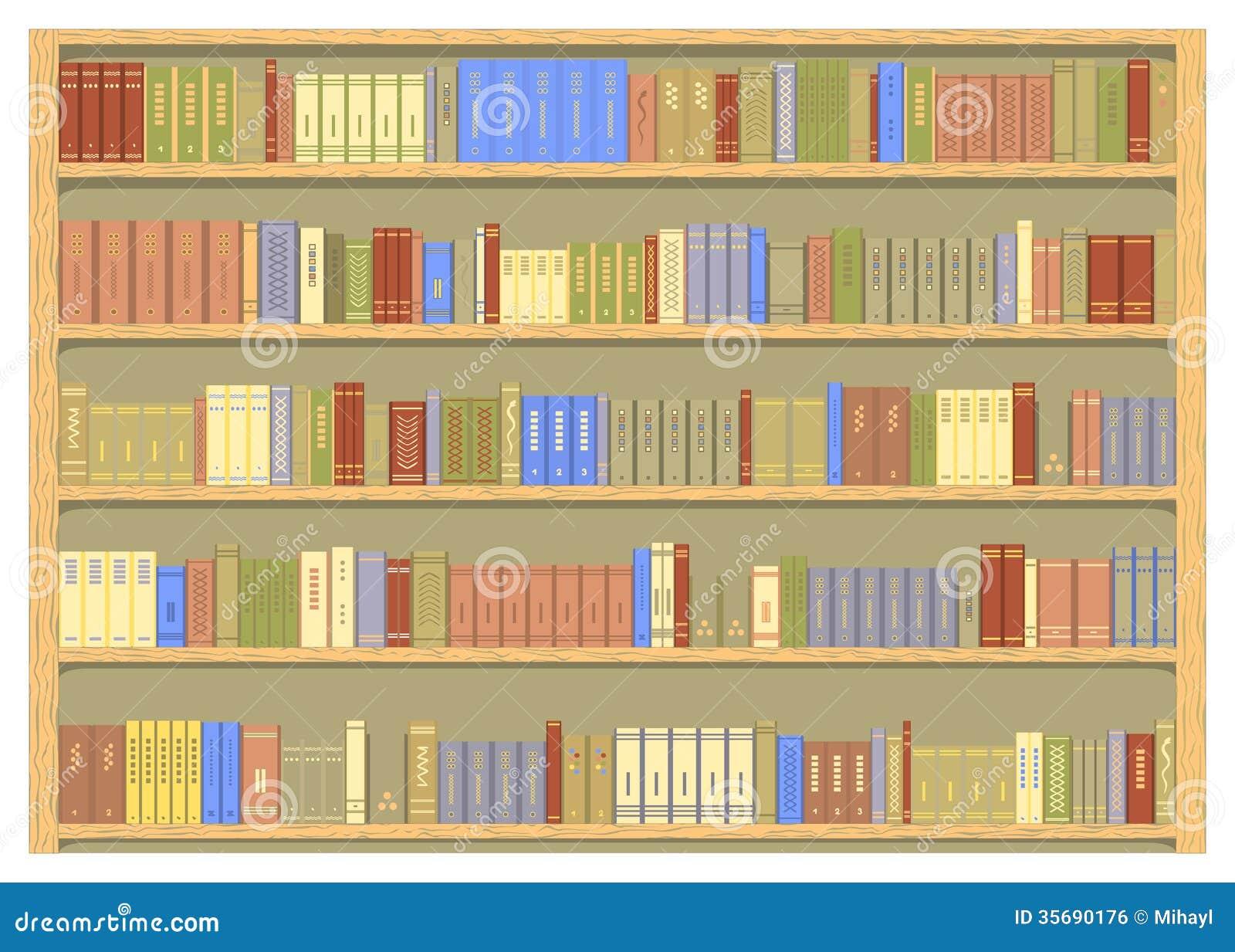 Bookshelf Royalty Free Stock Image Image 35690176