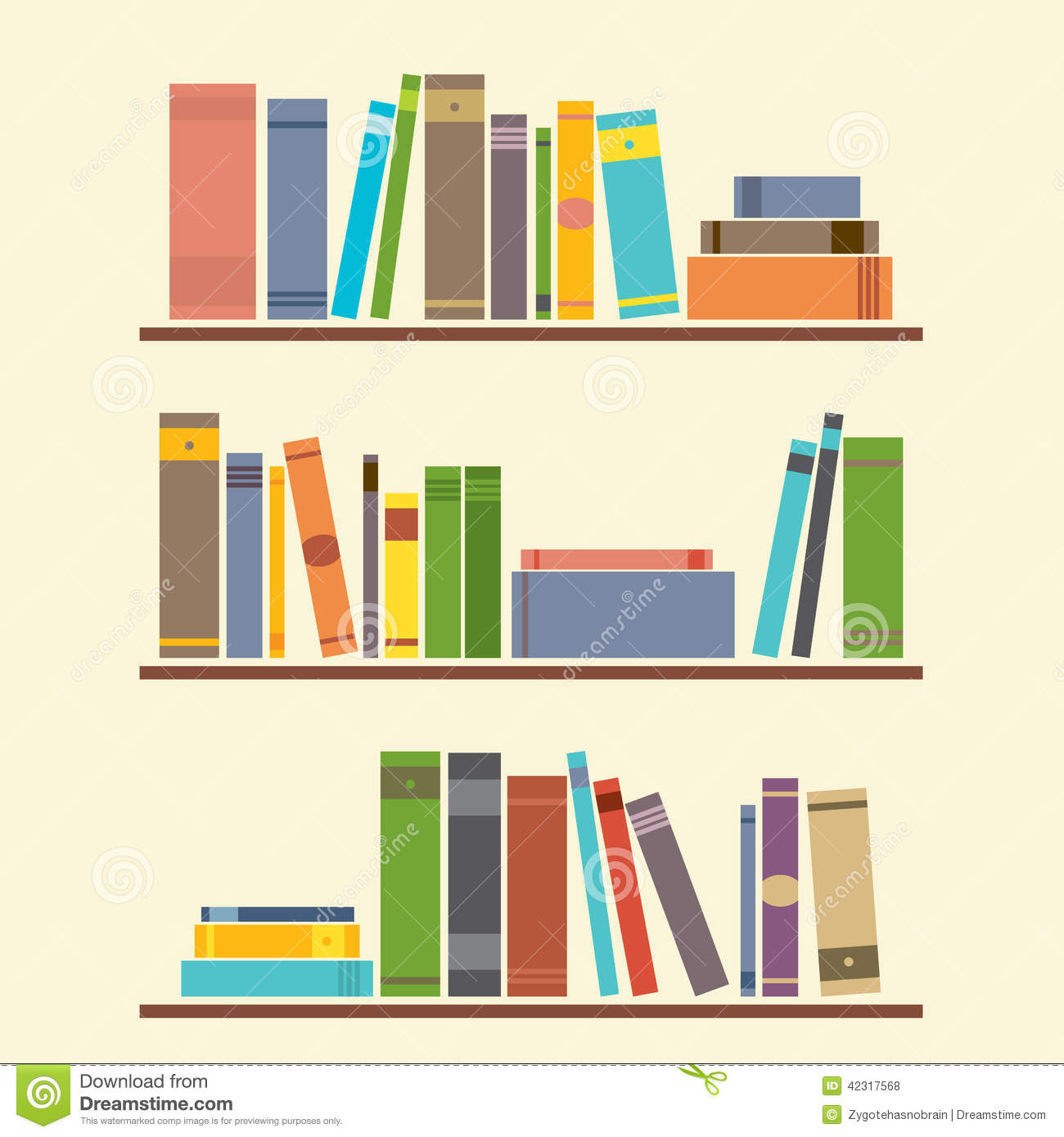Bookshelf Stock Vector - Image: 42317568