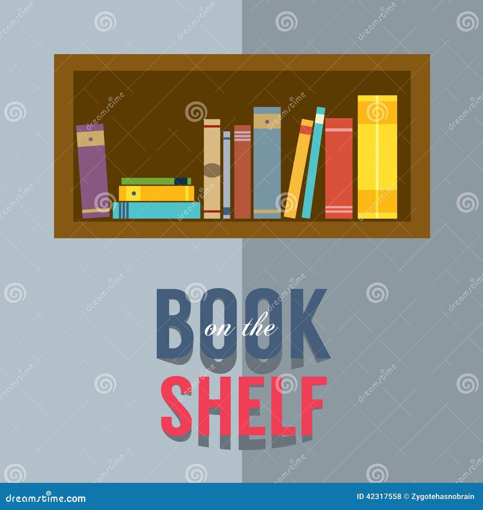 Bookshelf Graphic Stock Vector Illustration Of Shelf