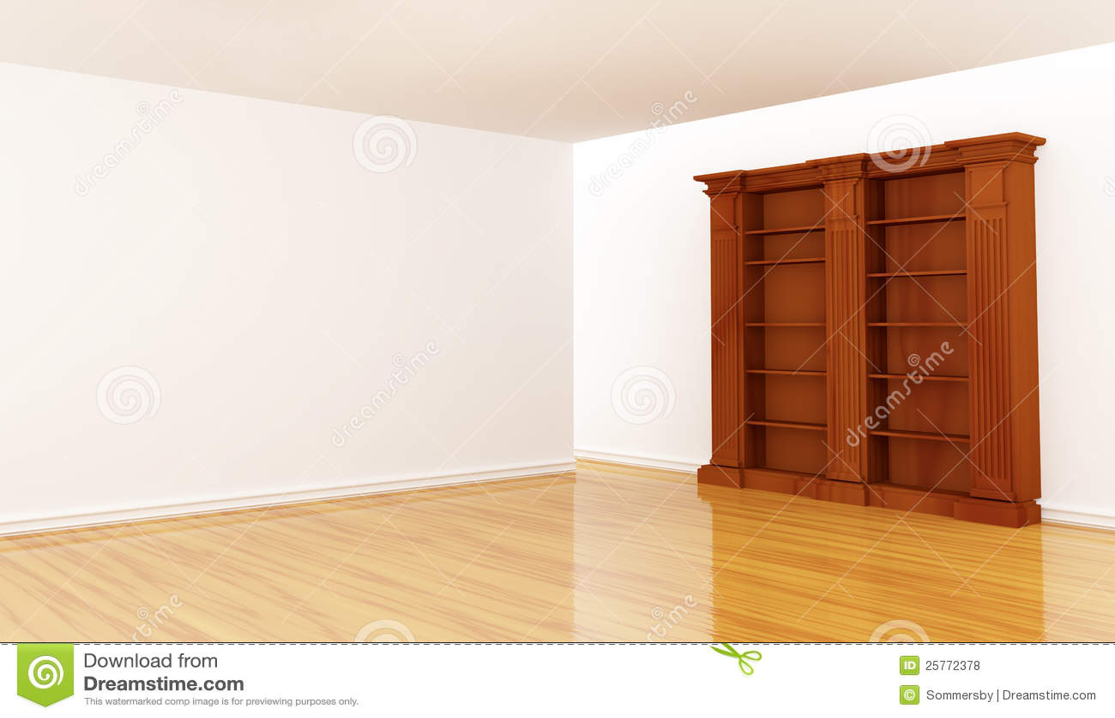 Bookshelf In Minimalist Interior