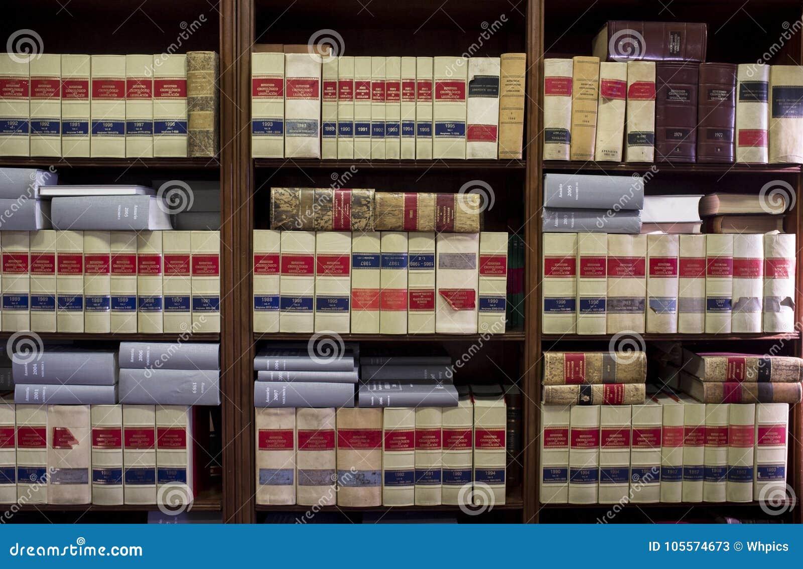 Bookshelf Plenty Of Old Legal Books