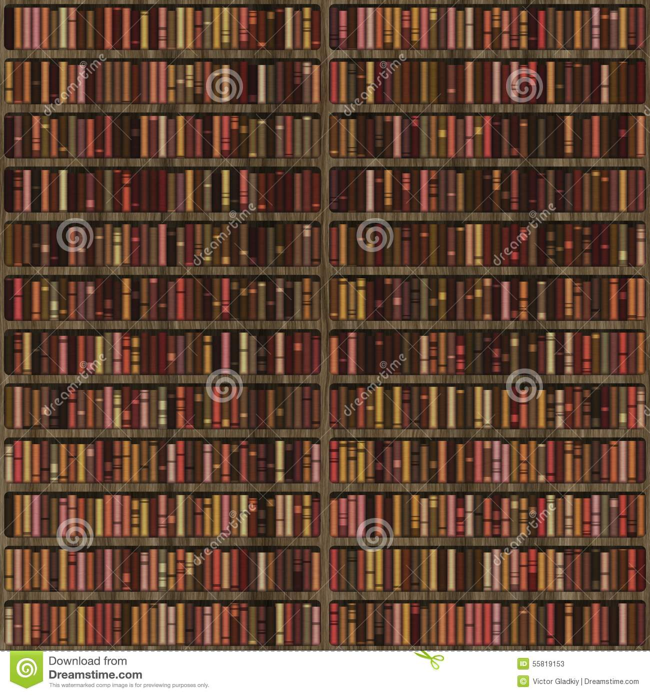 Bookshelf Stock Illustration Of Texture