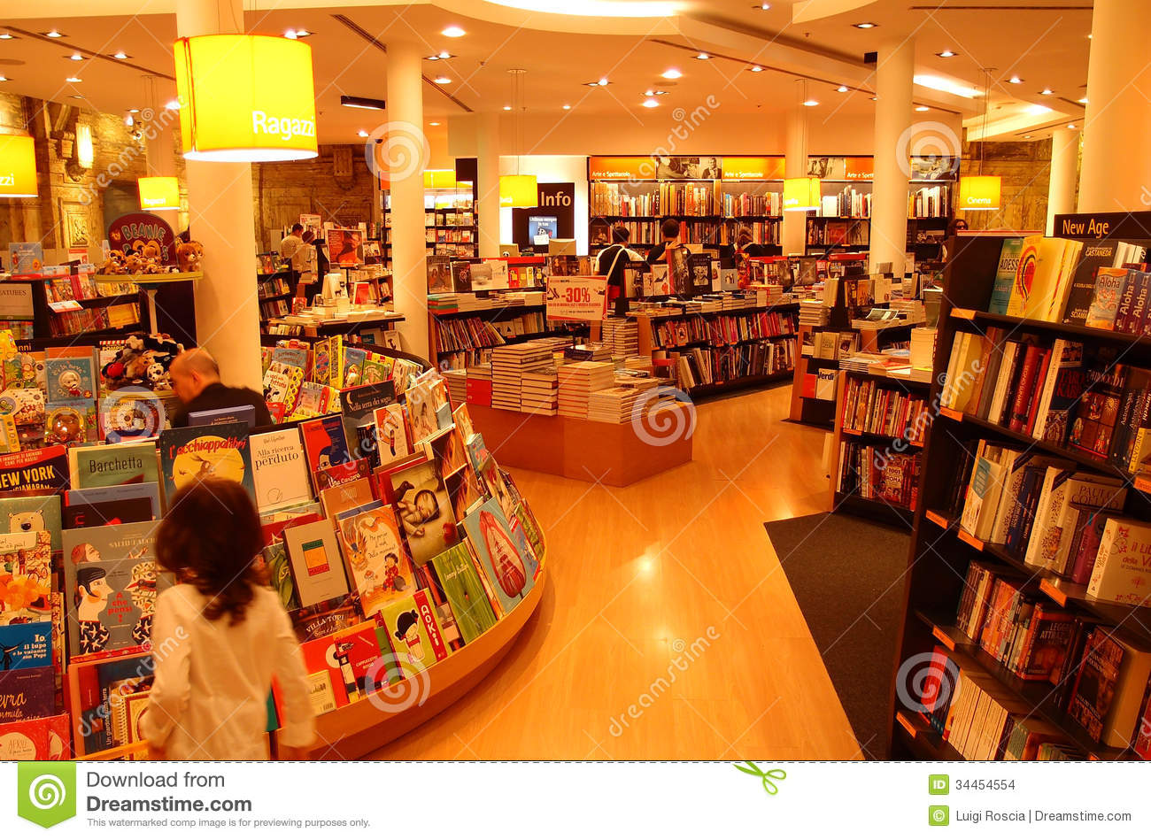 Children bookshop in central Rome, Italy.Photograph taken on October ...