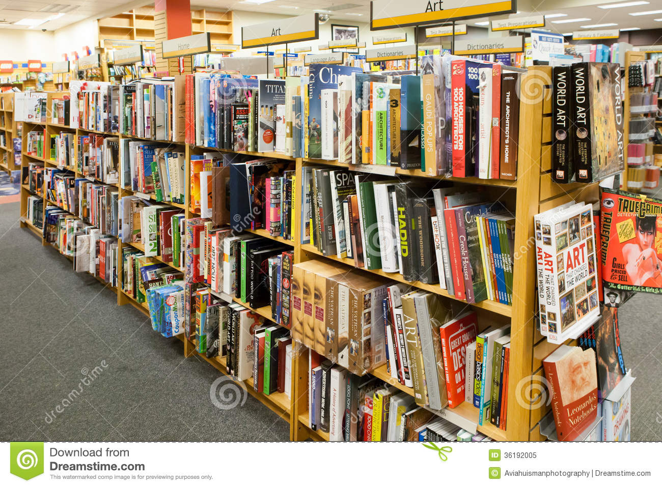 bookstore aisle art books - Bookshelves For Bookstores