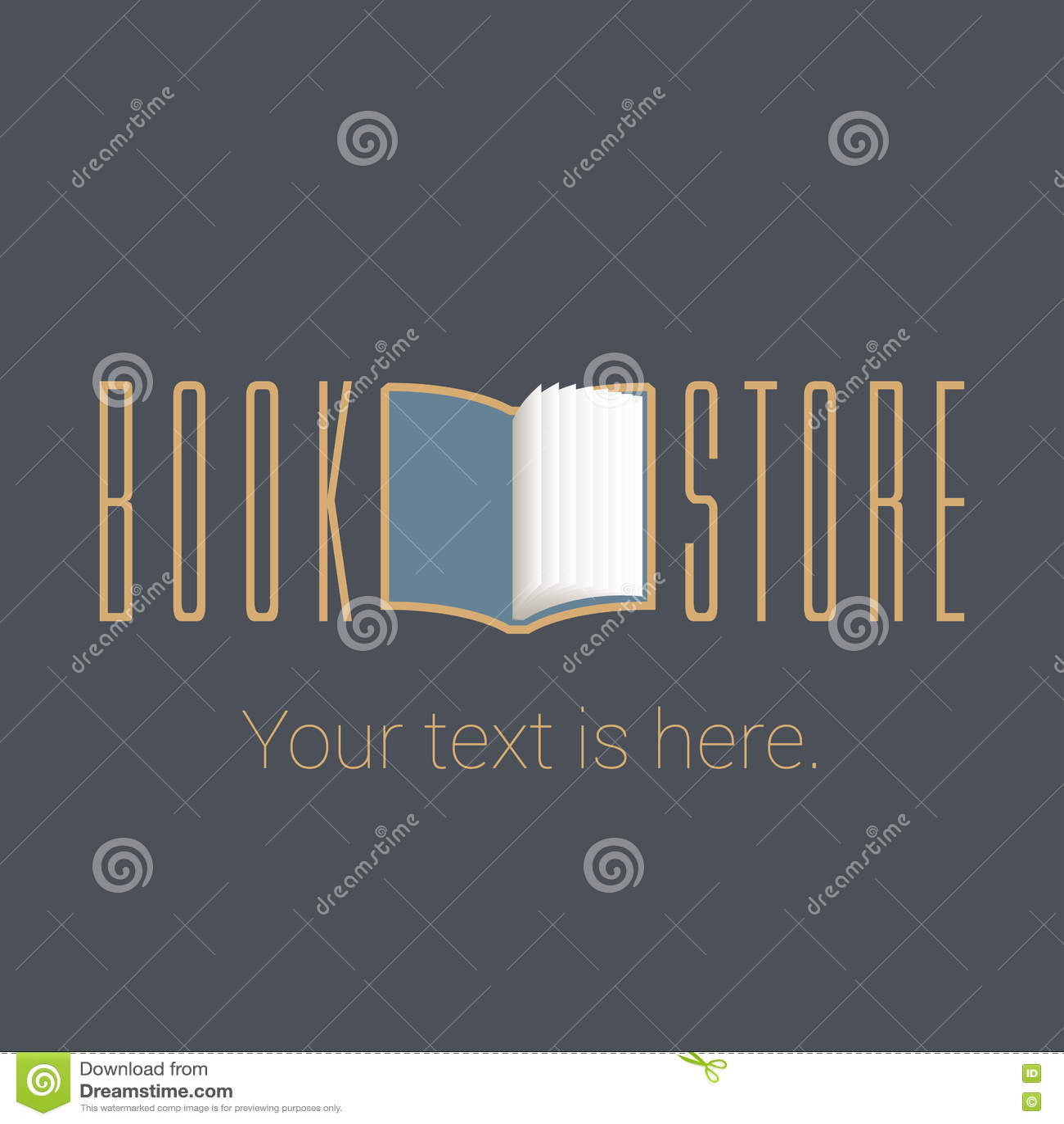Bookstore, Bookshop Vector Emblem, Sign, Symbol, Logo Stock Vector