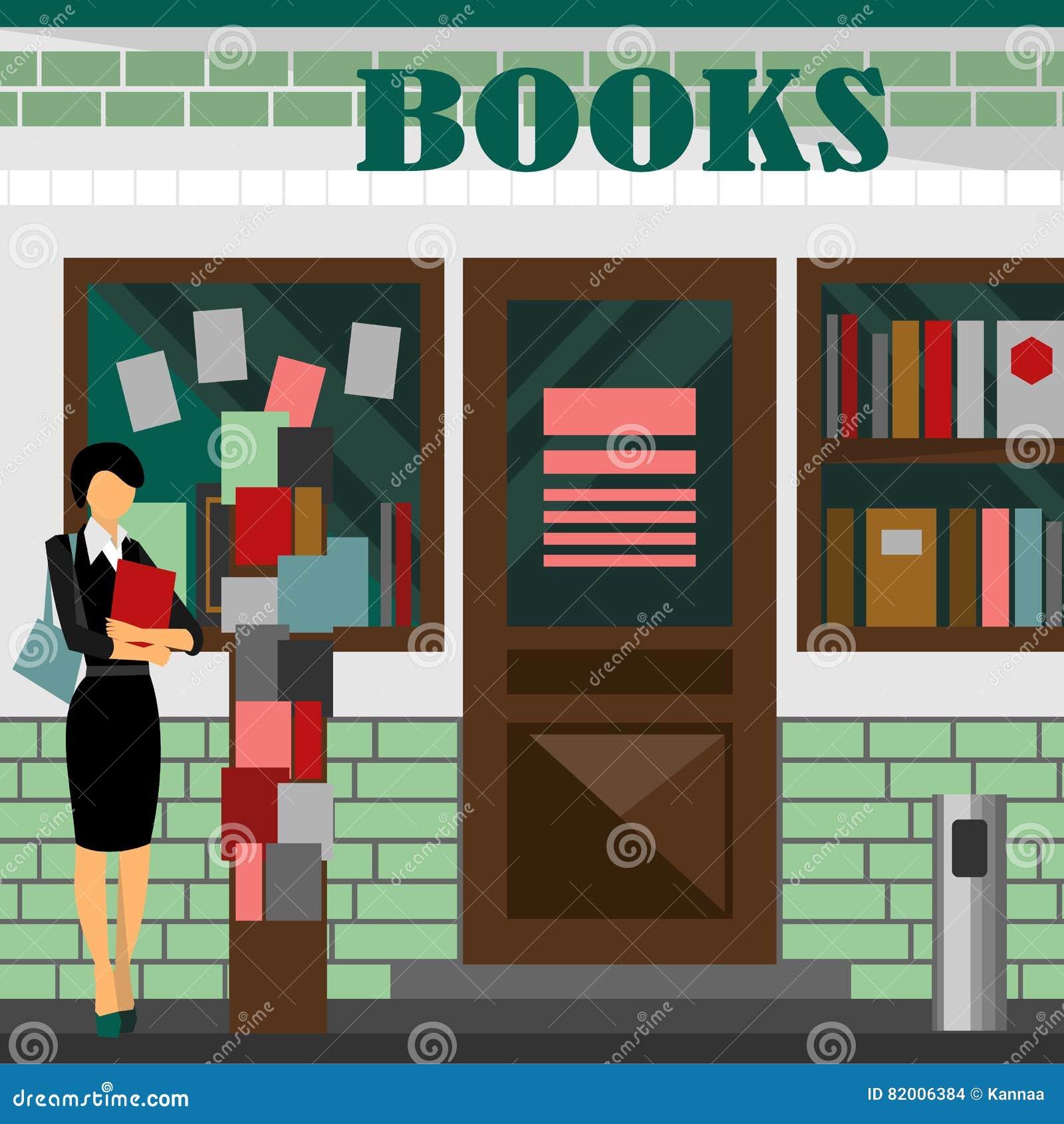 Bookstore centrum handlowe Książka sklepowy budynek