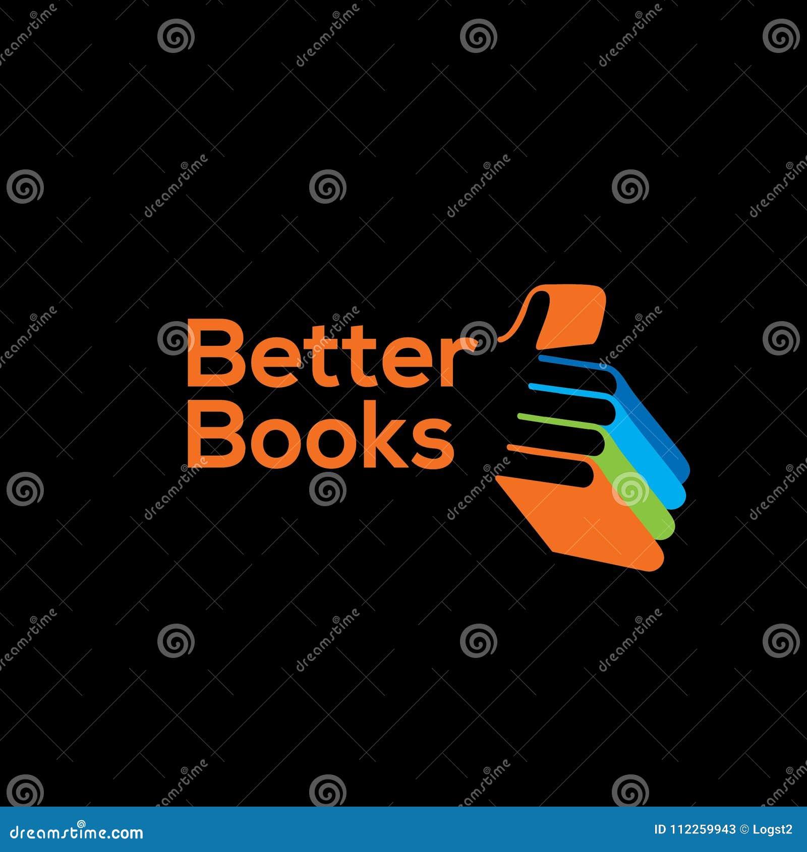 Bookstore vector logo.Library logo.Books logo