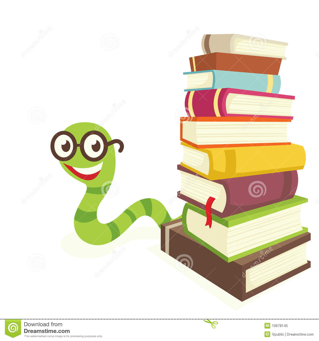 Bookworm Royalty Free Stock Photo - Image: 10678145