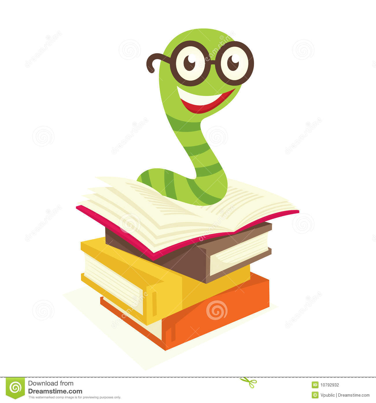 Bookworm Stock Photography Image 10792932