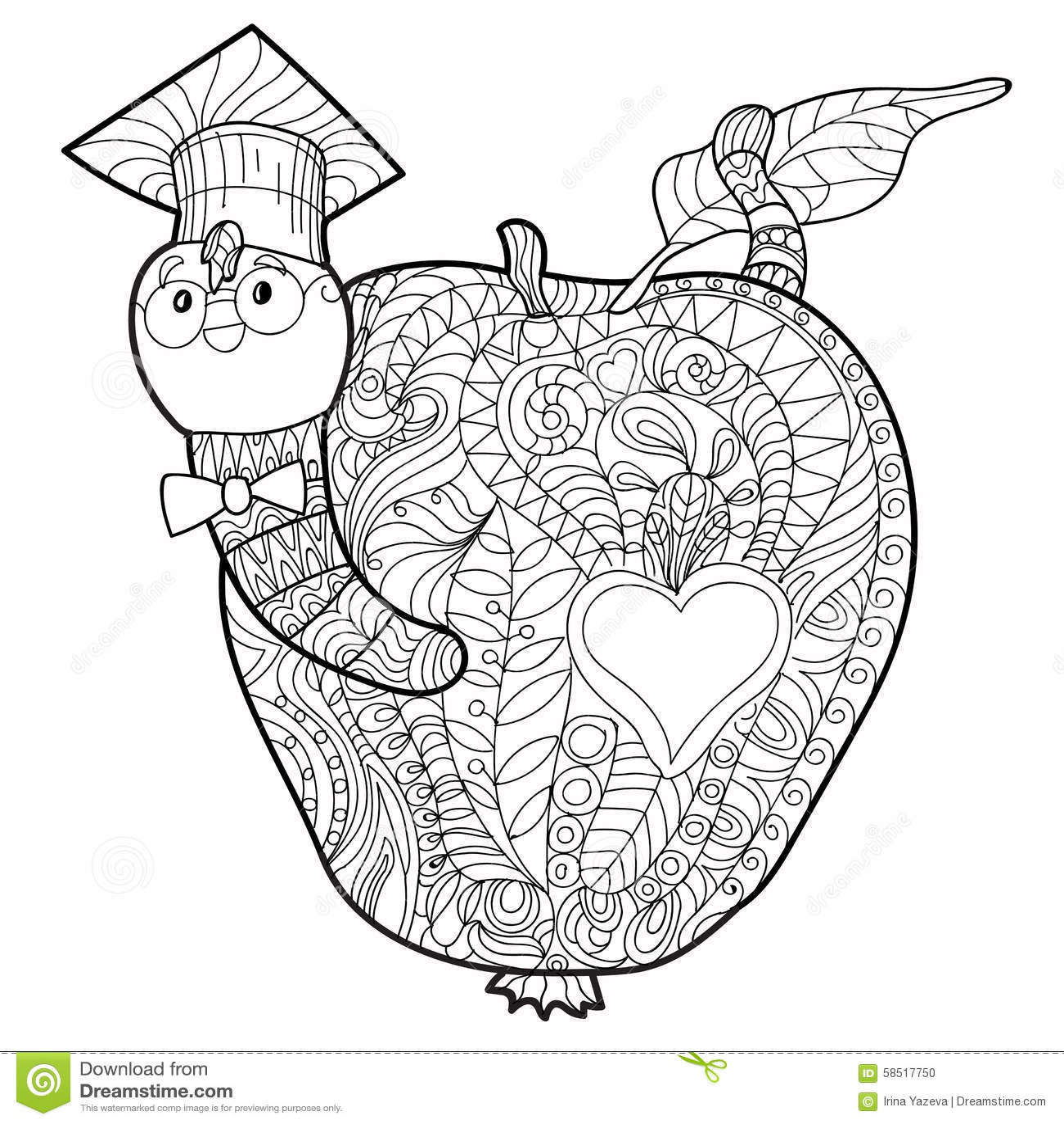 Bookworm Doodle Stock Vector Image 58517750