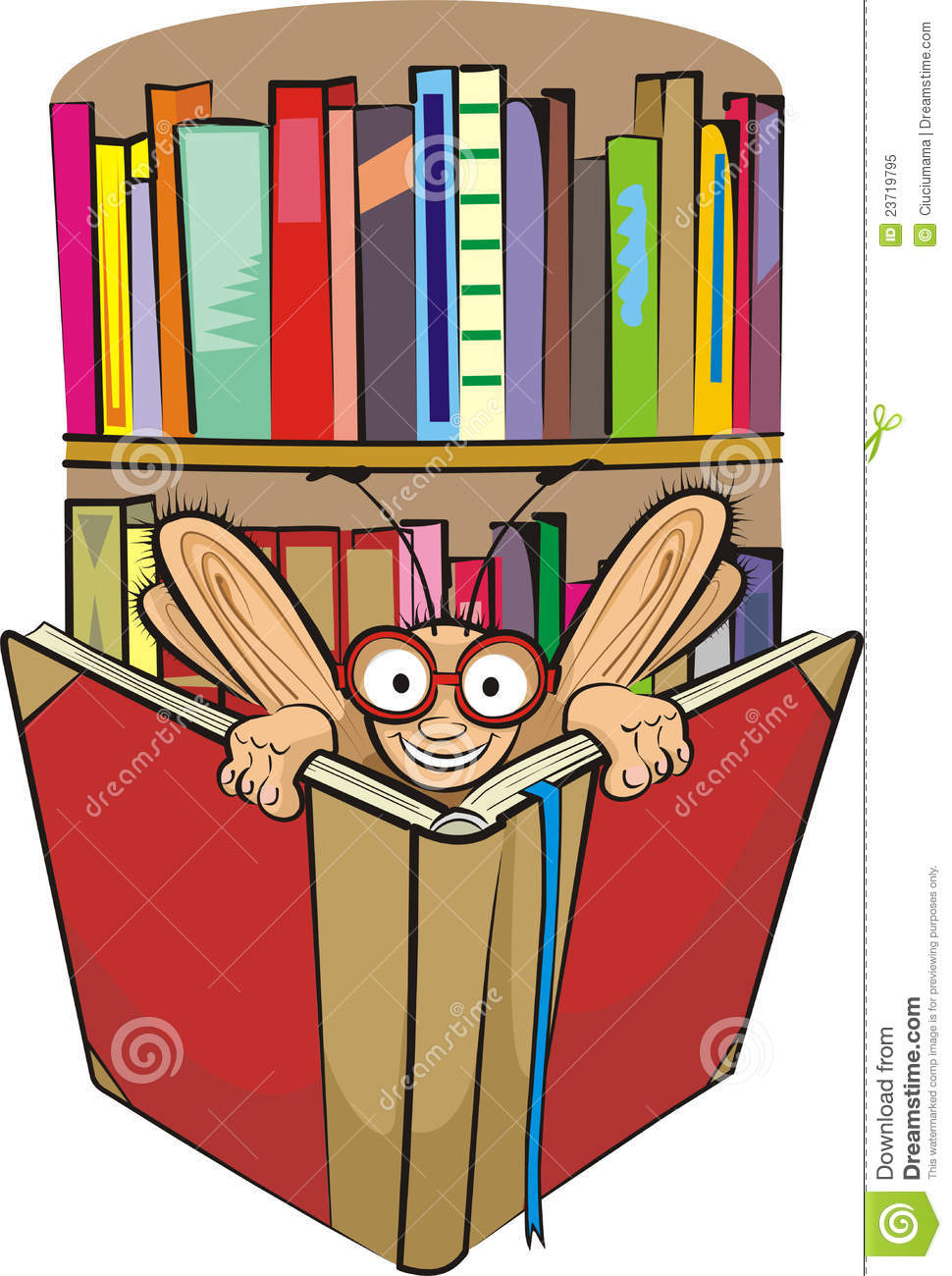 Bookworm And Library Royalty Free Stock Photo - Image ...