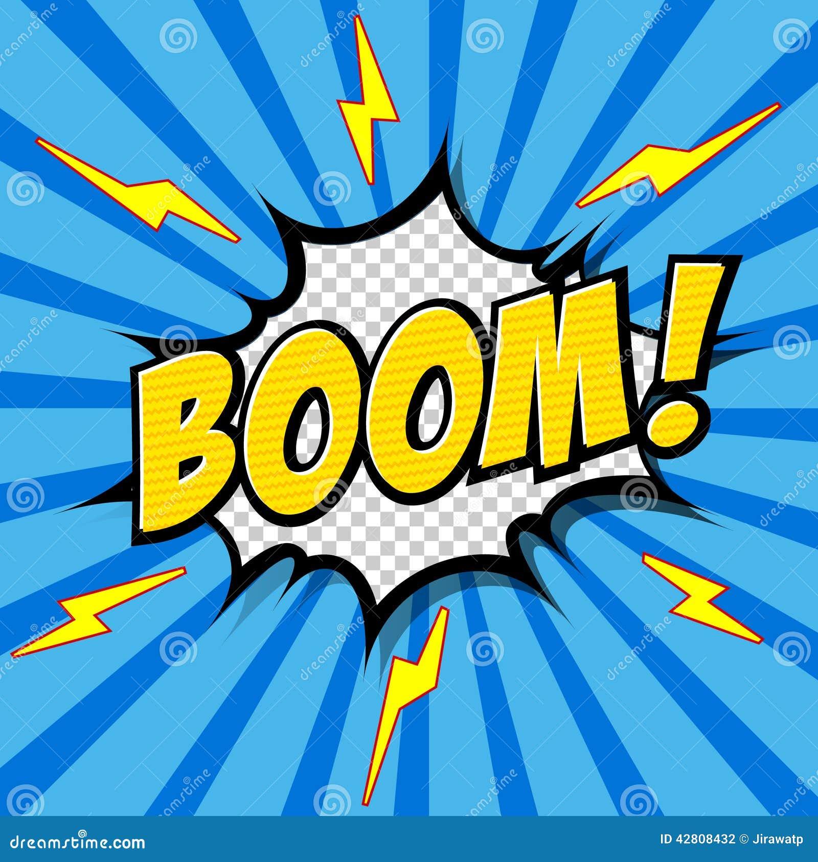 boom comic speech bubble cartoon stock vector image