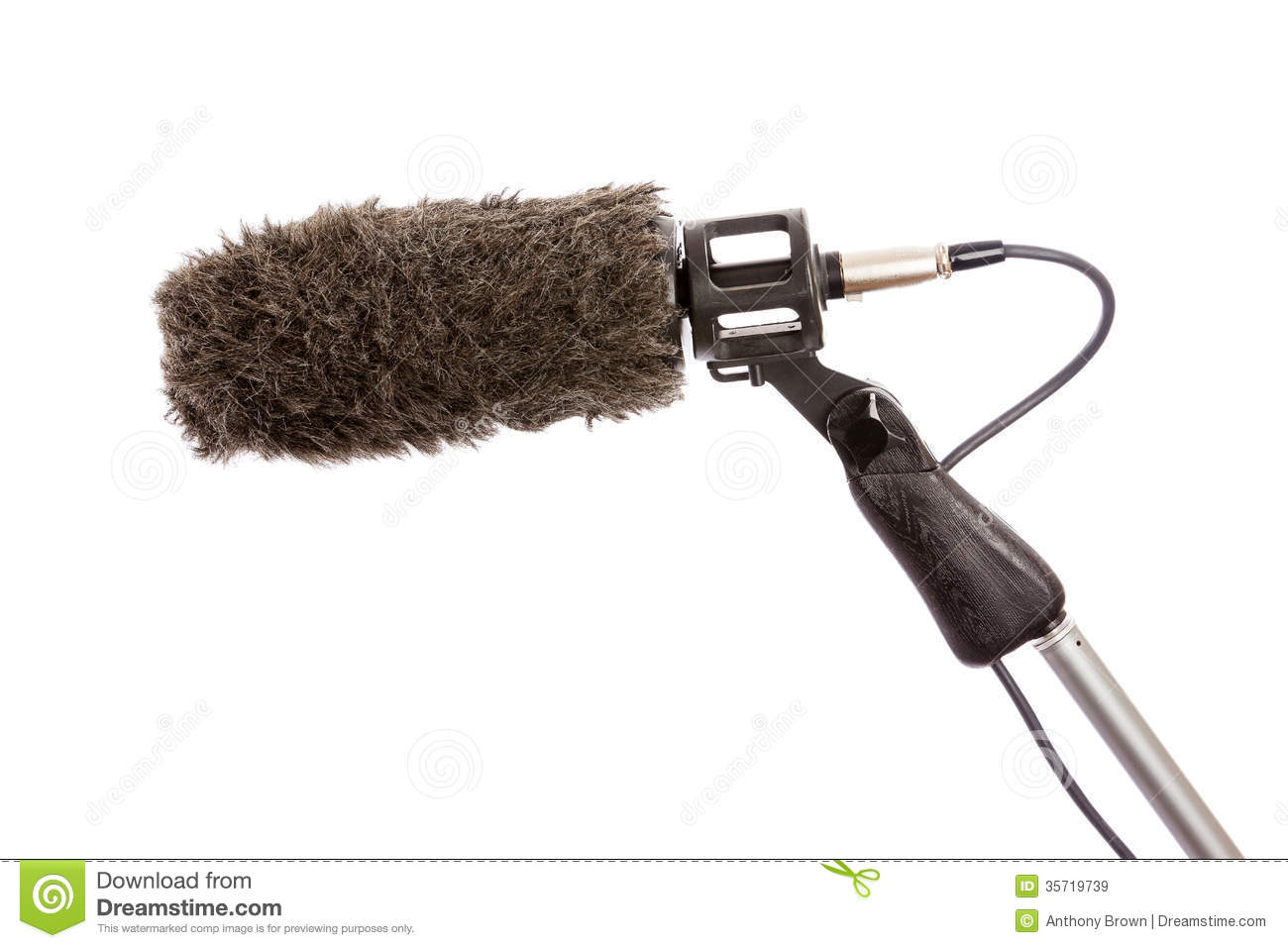 boom microphone windshield stock image image of recording