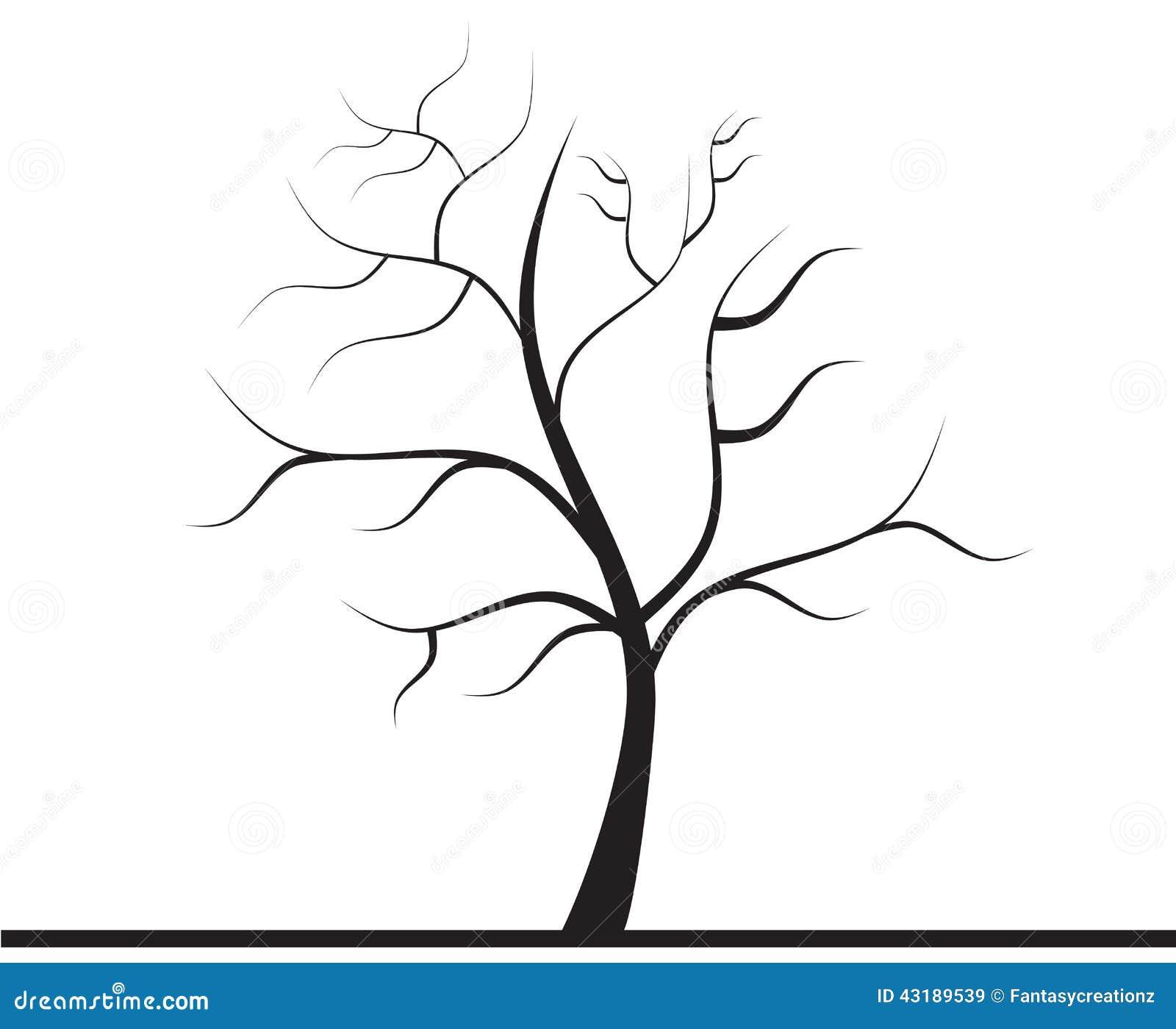 boom zonder bladeren stock illustratie illustratie