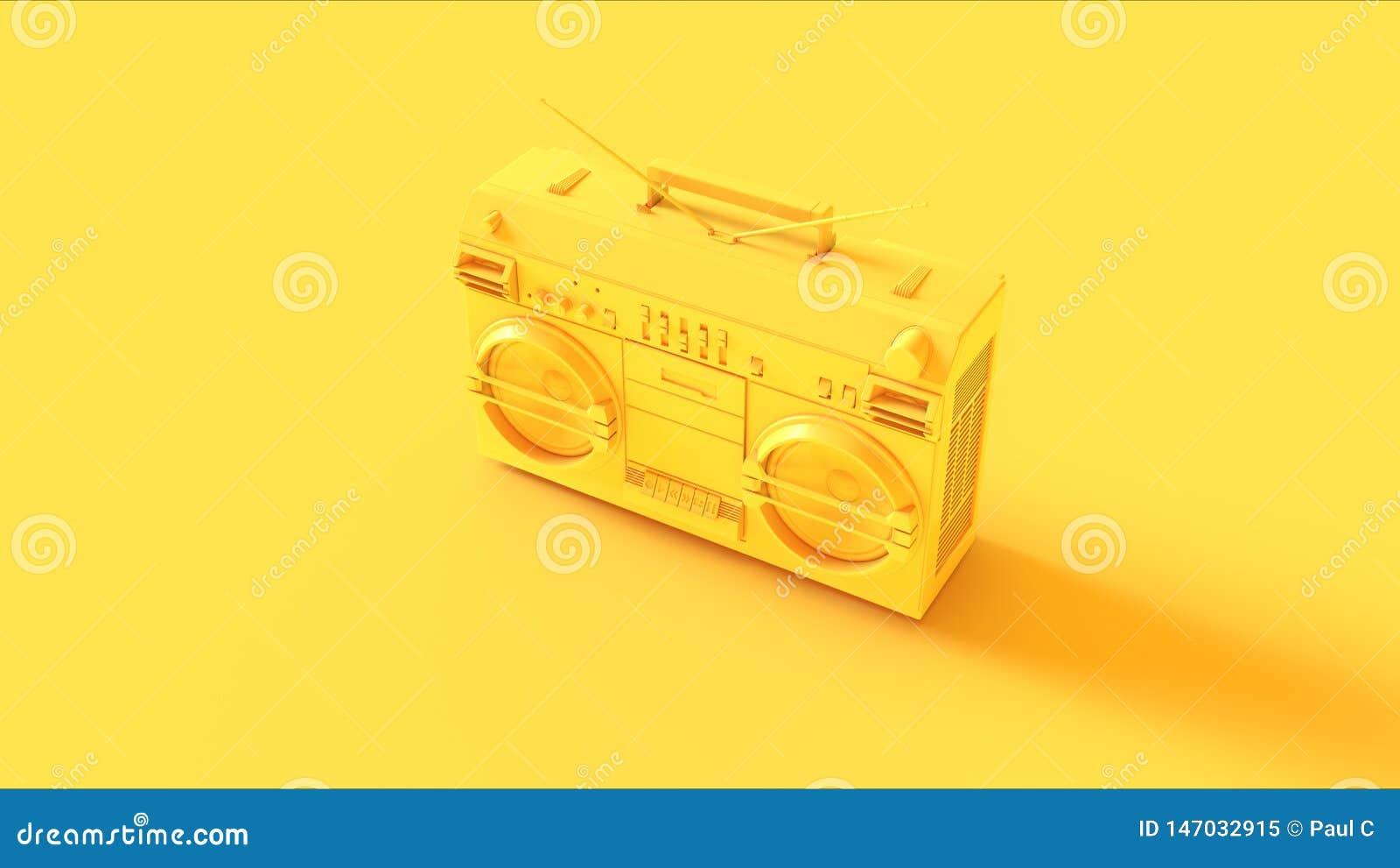 Boombox amarelo