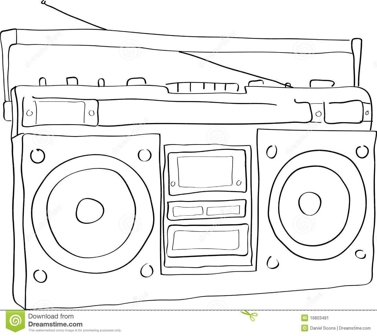 Free Coloring Pages Of Drawing Radios