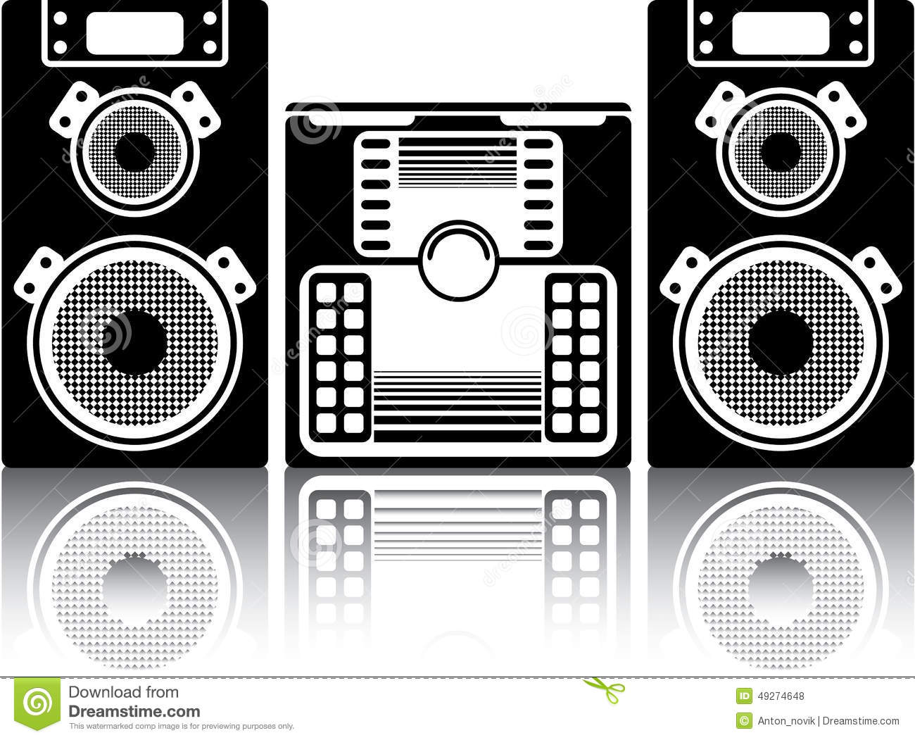 Boombox stereo stock vector illustration of casette for Graphics clipart