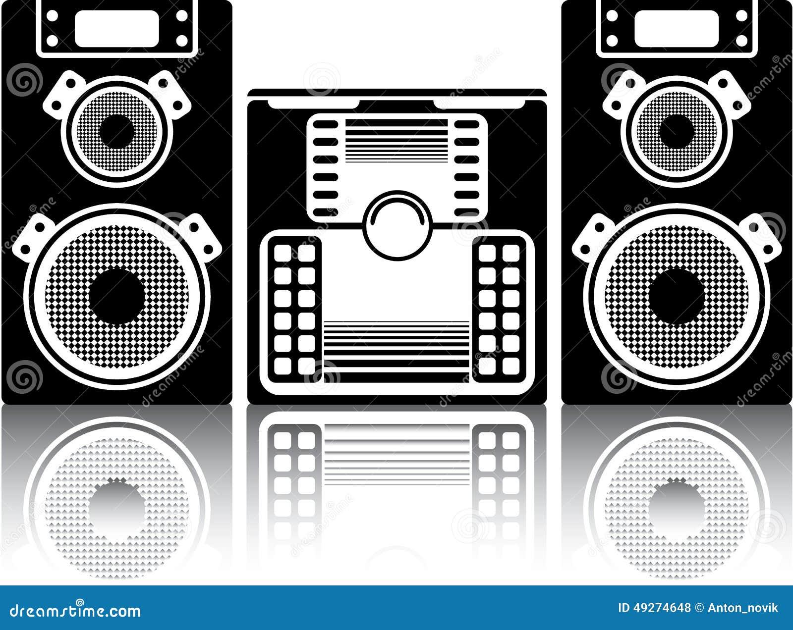 BoomBox Stereo stock vector. Illustration of casette ...