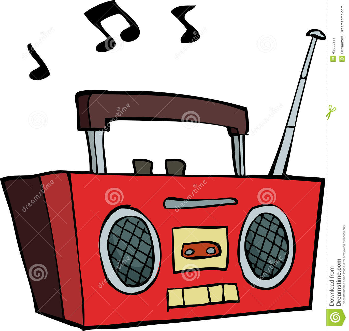 Boombox Stock Vector - Image: 42653297