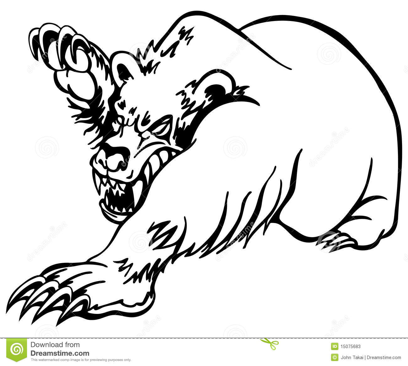 angry bear standing drawing - photo #17