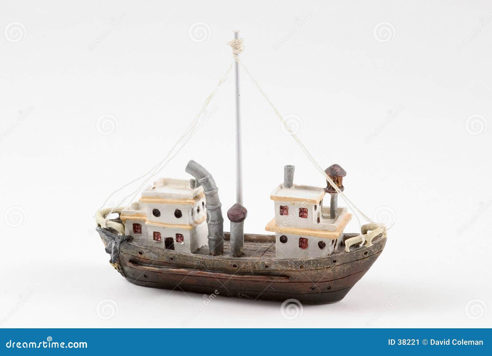 Boot auf Weiß