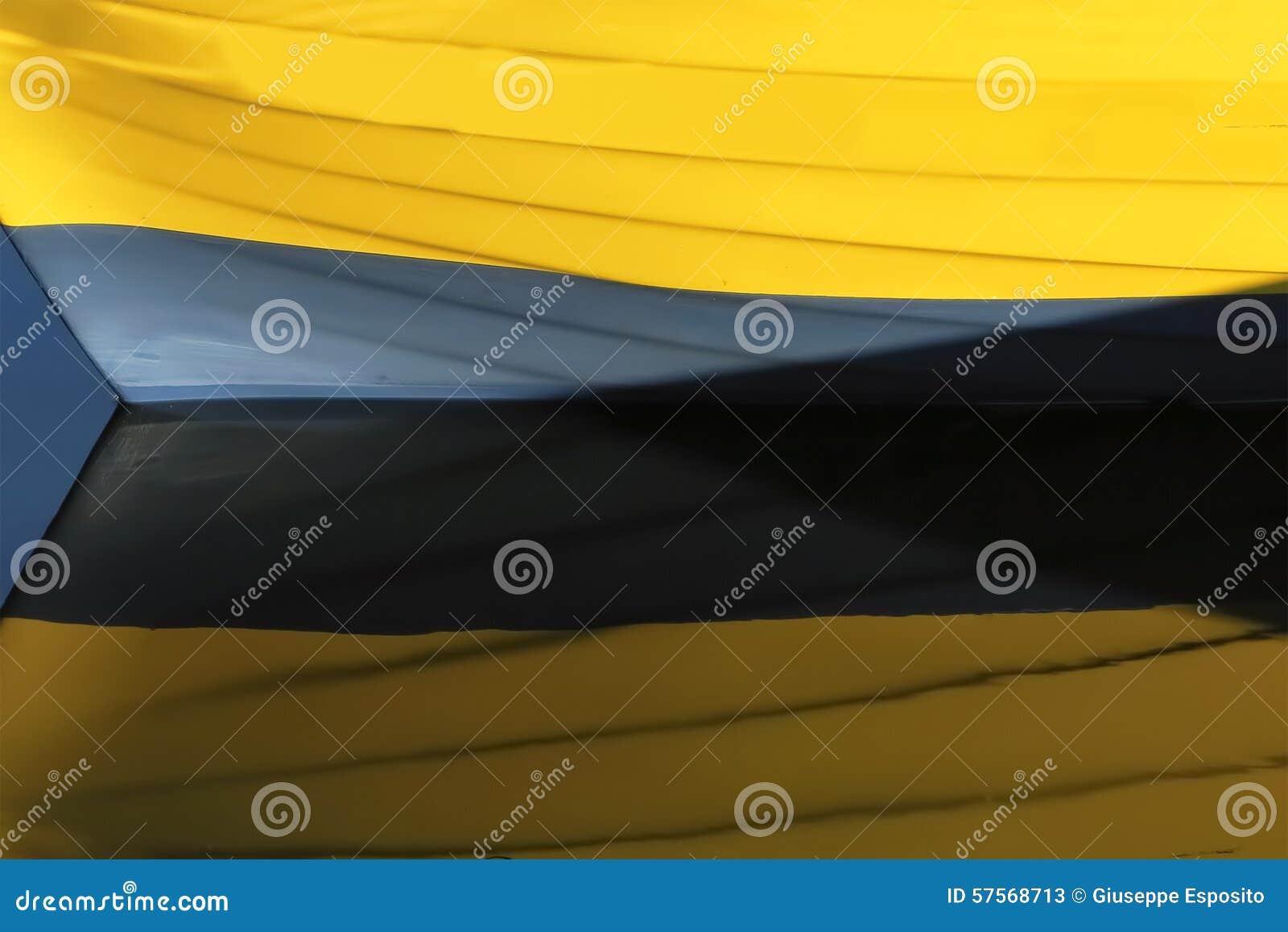 Boot Farben Nachgedacht über Meerwasser Stockbild - Bild von ...