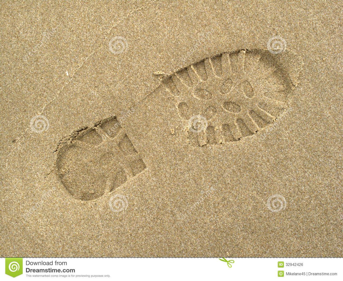 Boot Footprints In Sand Royalty Free Stock Image - Image ...
