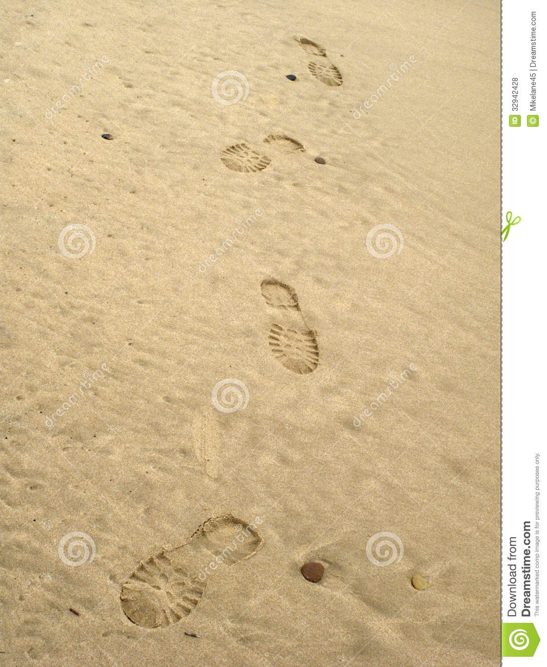 Boot Footprints In Sand Royalty Free Stock Photos - Image ...