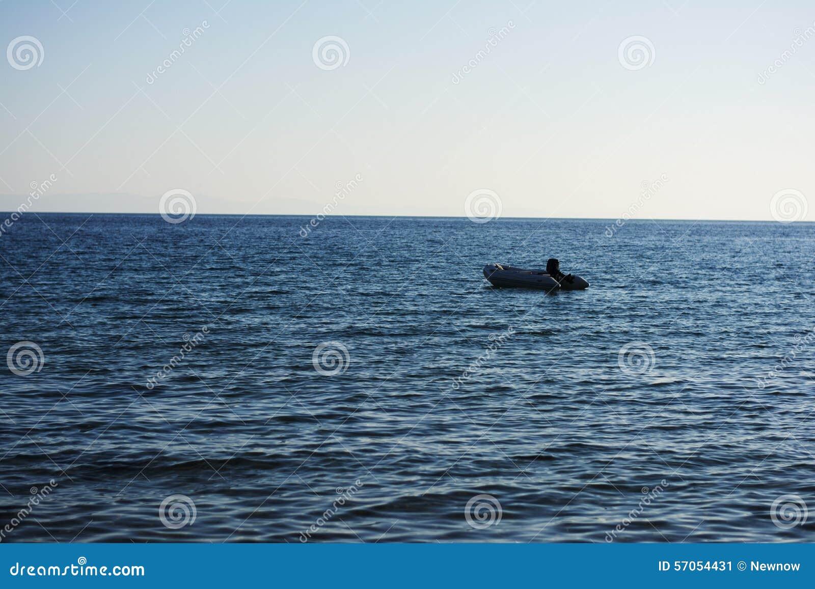 Boot in het overzees