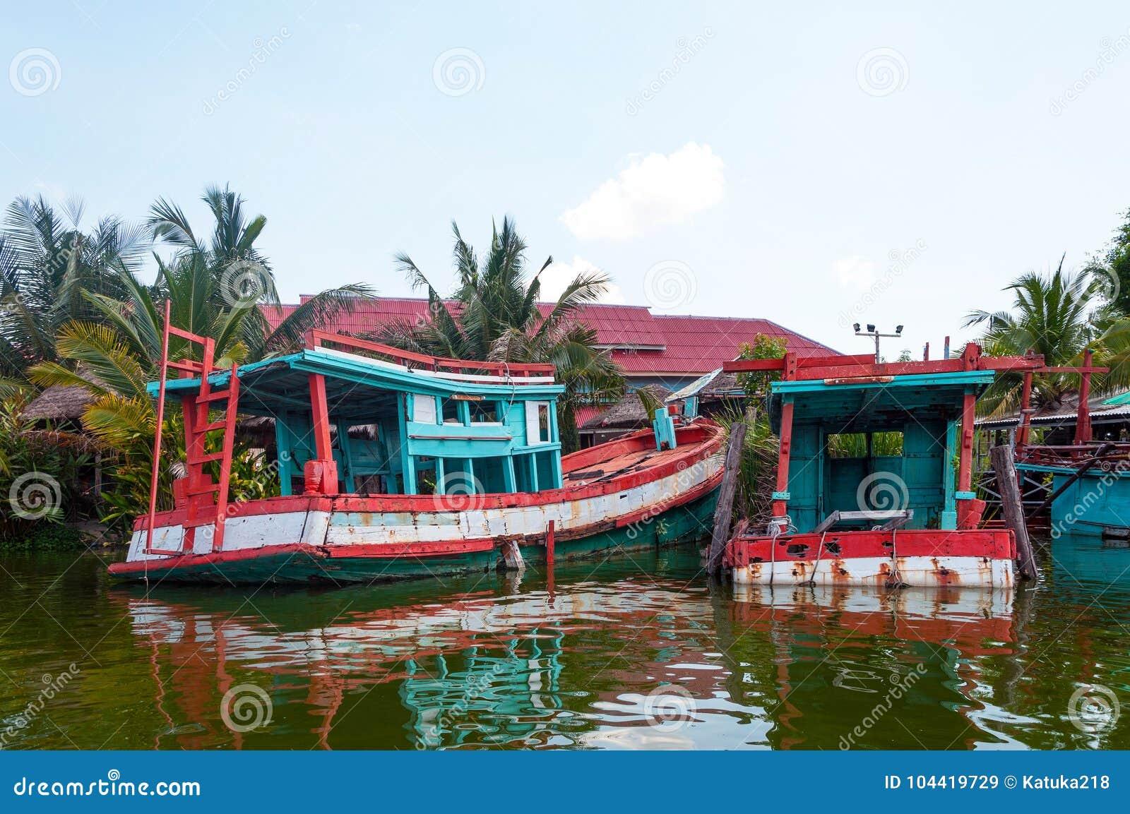 Boot in Hua Hin Floating Market in Hua Hin thailand