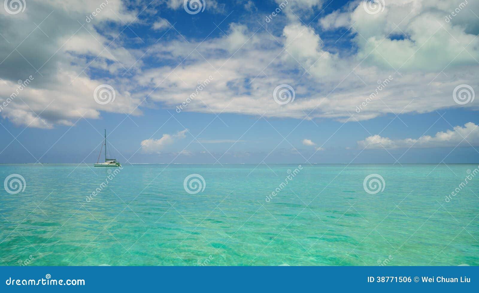 Boot im Ozean
