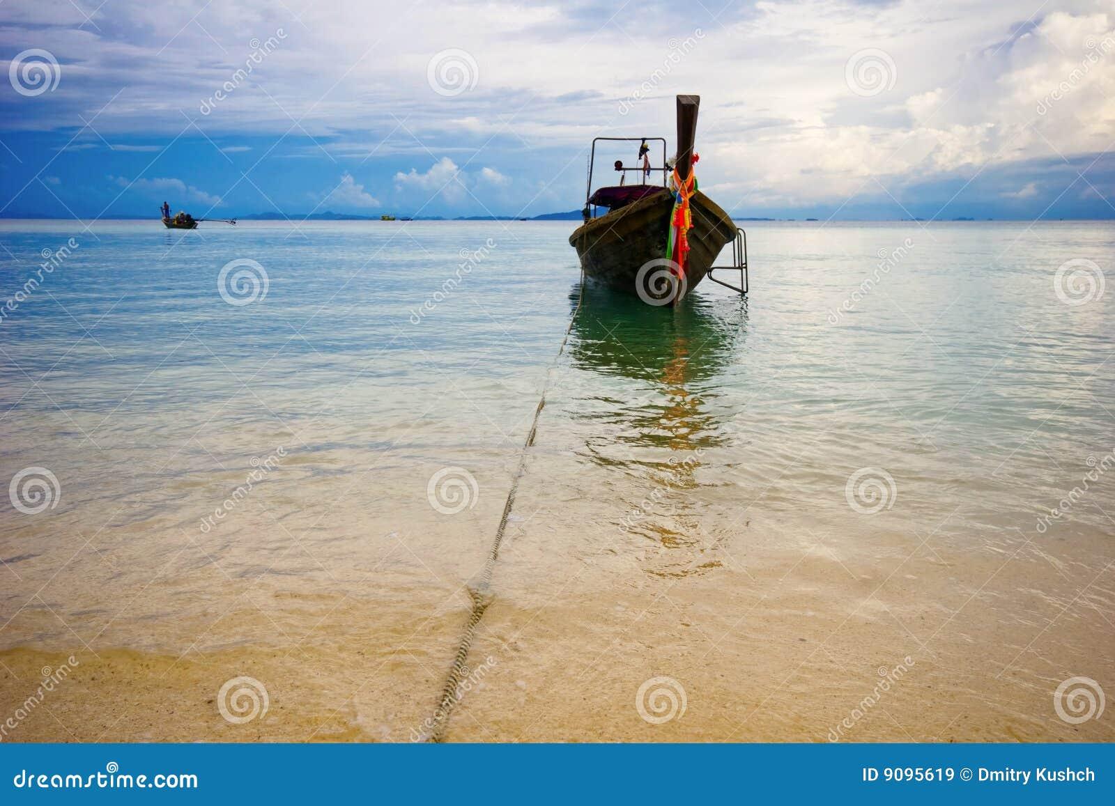 Boot nahe dem Strand