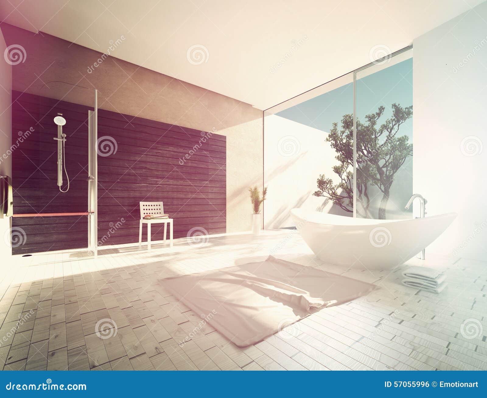 Boot-vormige ton in een moderne badkamers