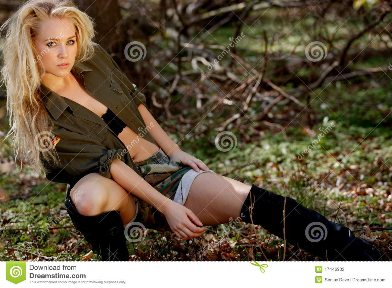 Bootcamp Girl Army Style Stock Photography - Image: 17446932