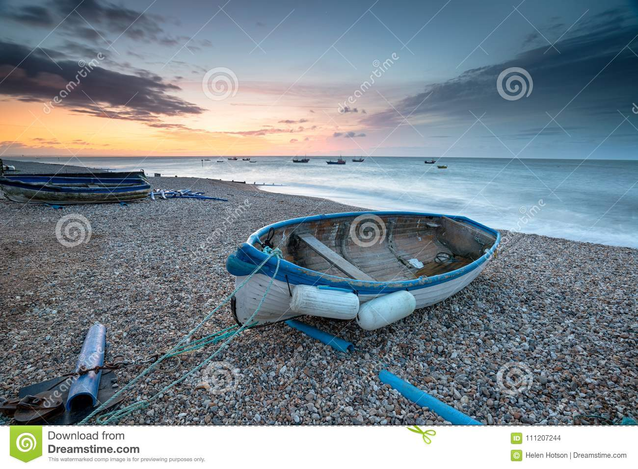 Boote bei Selsey Bill