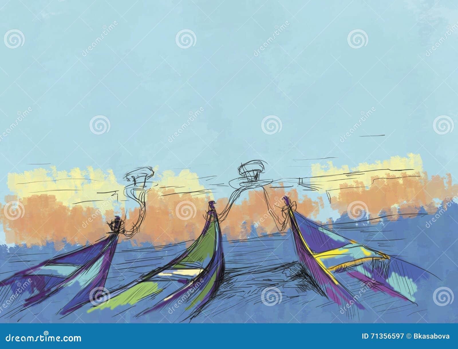Boote und Meer