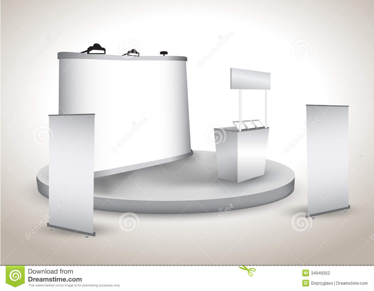 Trade Show Booth Backdrop : Booth exhibition display with backdrop stock photography