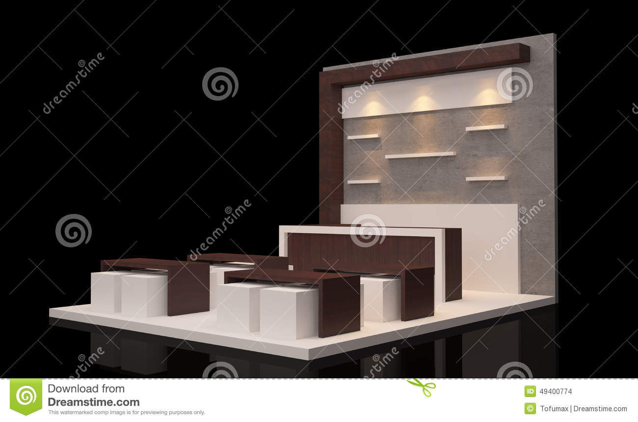 Modern Exhibition Booth : Booth exhibition stock illustration image
