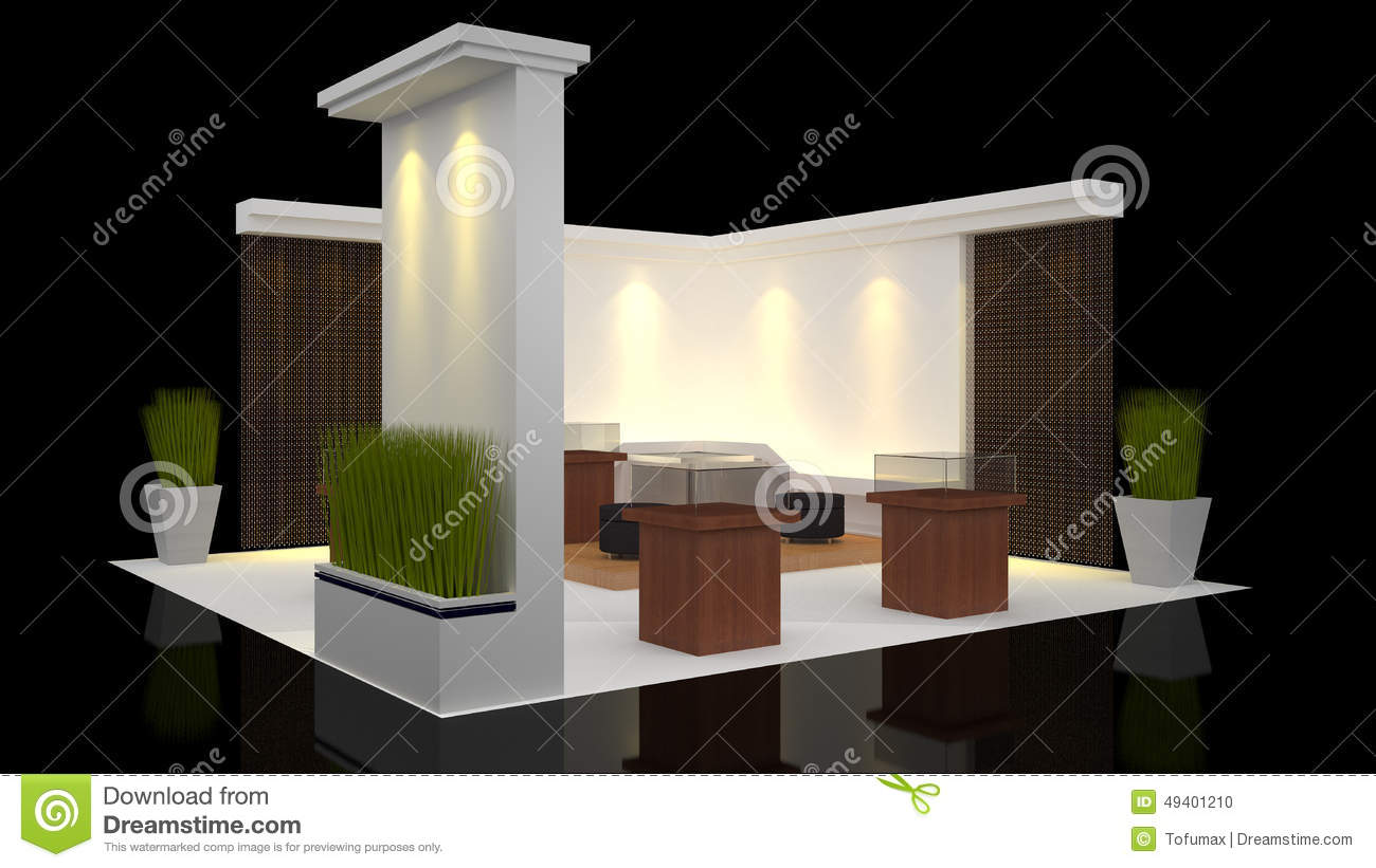 Modern Exhibition Stand Design : Booth exhibition stock illustration image