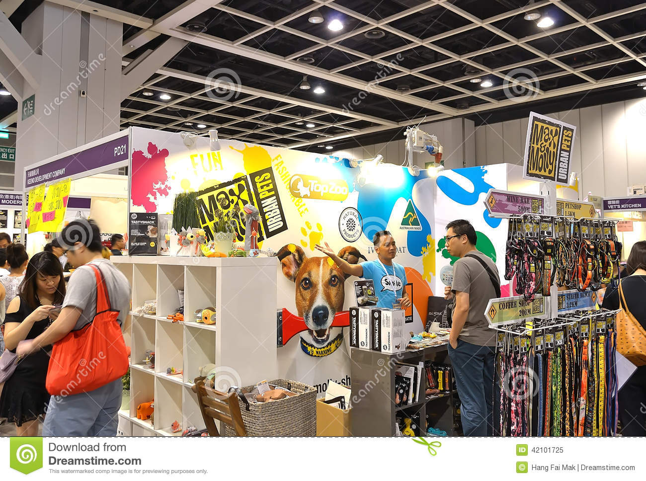 Exhibition Booth Supplier Singapore : A booth at pet expo editorial image of hongkong